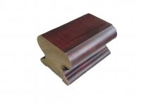 Поручень деревянный профильный (дуб) ширина-75 мм высота 60 мм