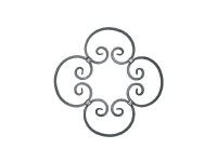 Декоративный кованый элемент №21