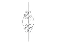 Декоративная кованая балясина №42