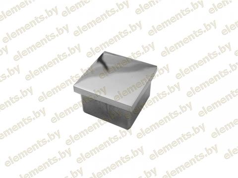 Торцевая заглушка забивная для трубы 40х40х1,5 мм, литье сс89