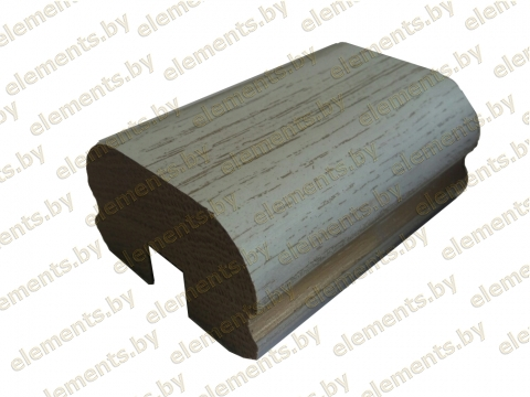 Поручень деревянный профильный (дуб) ширина-70 мм высота 42 мм