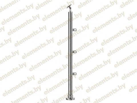 Стойка 38.1х1.5 (L-900) AISI 304 крепление - фланец или Аl. стакан