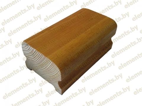 Поручень деревянный профильный (дуб) ширина-60 мм высота 45 мм